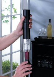 Black Electric Wine Bottle Opener with Foil Cutter