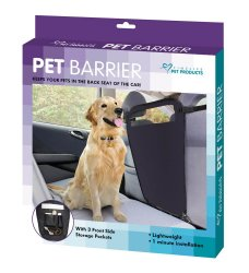 Auto Pet Car Seat Barrier w/ Storage Pockets