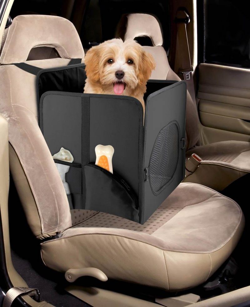 Image 1 of Pet Booster Car Seat with Storage Pockets