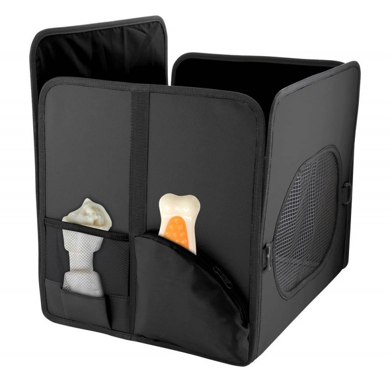 Image 2 of Pet Booster Car Seat with Storage Pockets