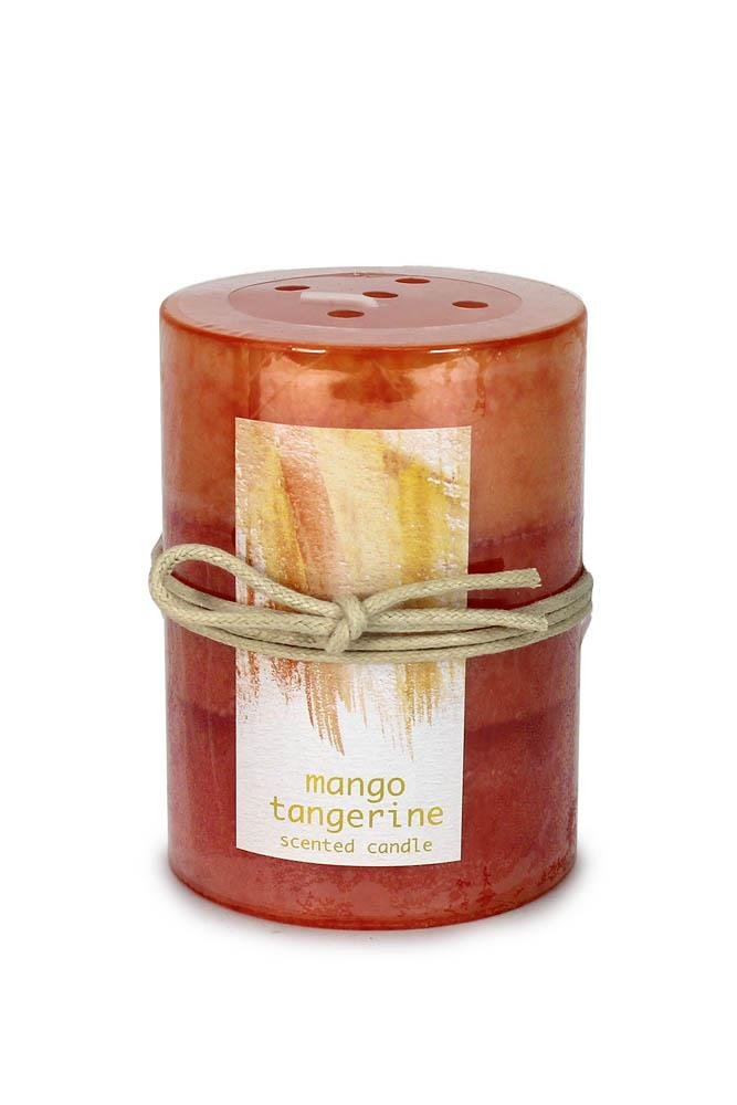 Image 0 of Tangerine Mango Scented 3 x 4 Pillar Candle 60 Hours Burn Time