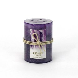 Passion Fruit Scented 3 x 4 Pillar Candle 60 Hours Burn Time