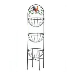 '.Rooster 3-Tier Kitchen Basket.'