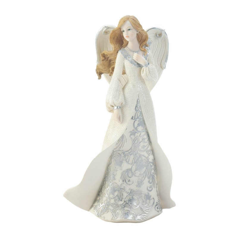Image 0 of Beautiful Angel Figurine in Lovely Flowing Gown