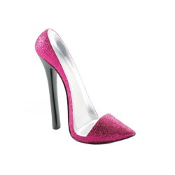 Glittering Pink Pointed Toe High Heel Cell Phone Holder