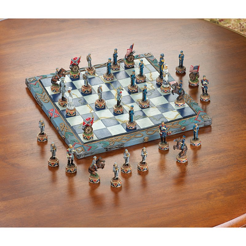 Image 0 of Civil War Theme Chess Set