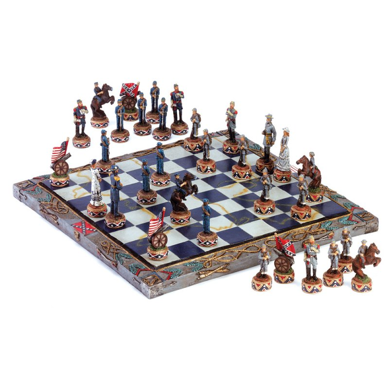 Image 1 of Civil War Theme Chess Set