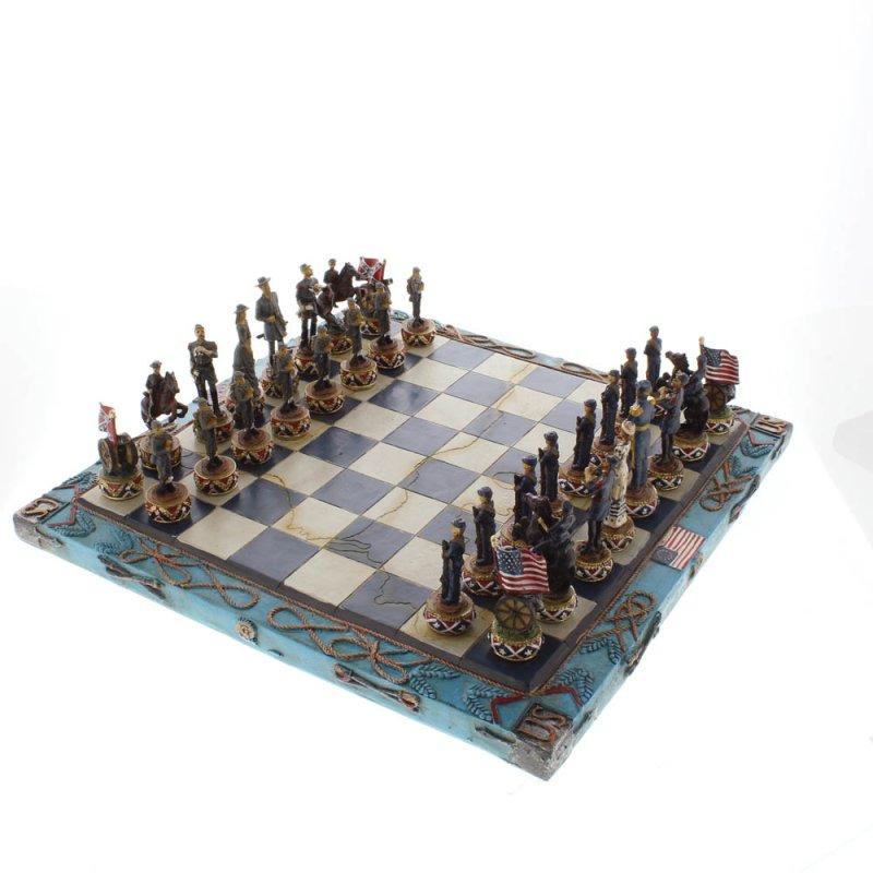 Image 4 of Civil War Theme Chess Set
