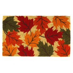 Autumn Leaves Coir Welcome Door Mat Thanksgiving & Fall Decor