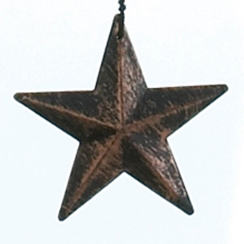 Image 1 of Bronze Color Stars Silhouettes & Bells Wind Chime 26