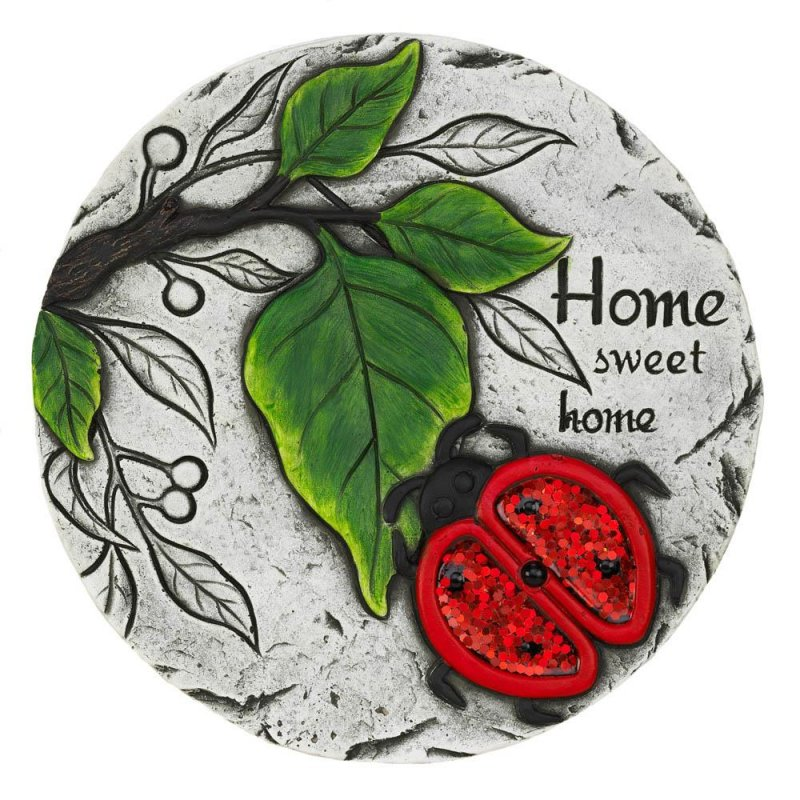 Image 0 of Home Sweet Home Stepping Stone with Red Ladybug