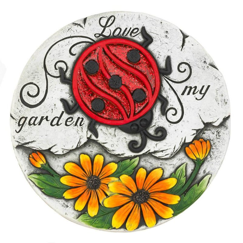 Image 0 of Love my Garden Stepping Stone with Red Ladybug & Sunflowers