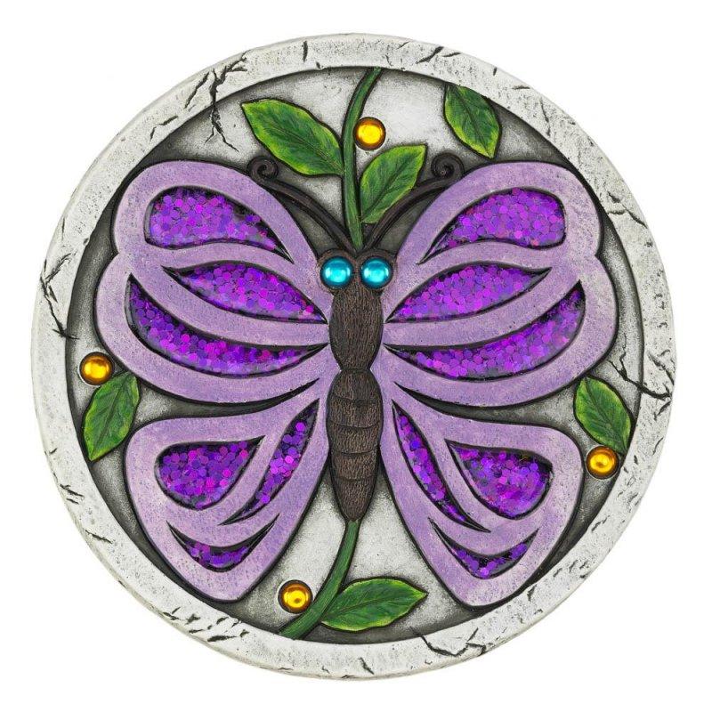 Image 0 of Purple Glitter Butterfly Garden Stepping Stone