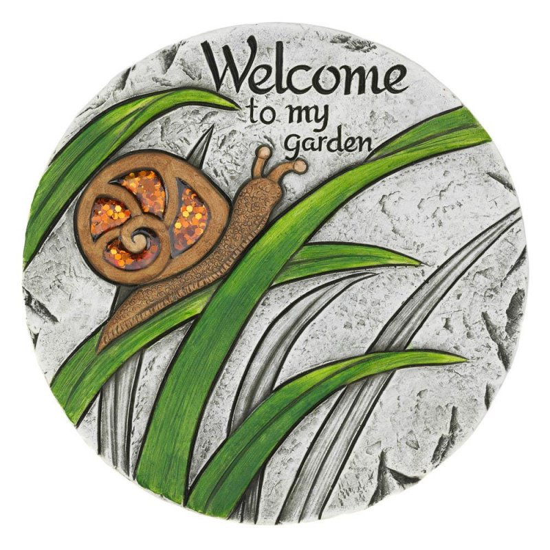 Image 0 of Welcome to my Garden Snail Stepping Stone