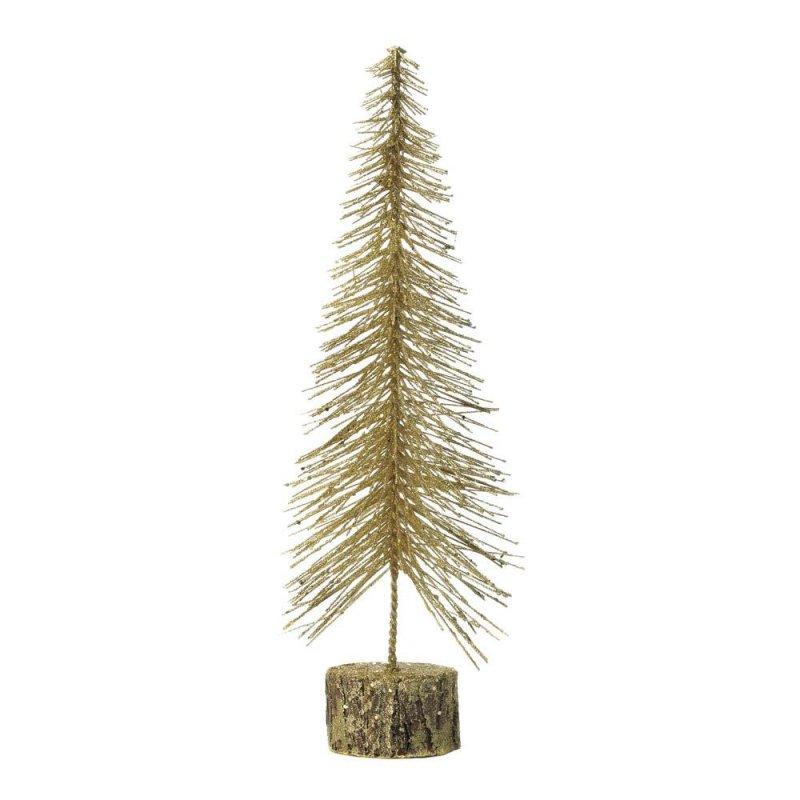 Image 0 of Medium Tabletop Gold Glitter Tree Figurine Christmas Decor
