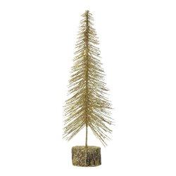 Medium Tabletop Gold Glitter Tree Figurine Christmas Decor
