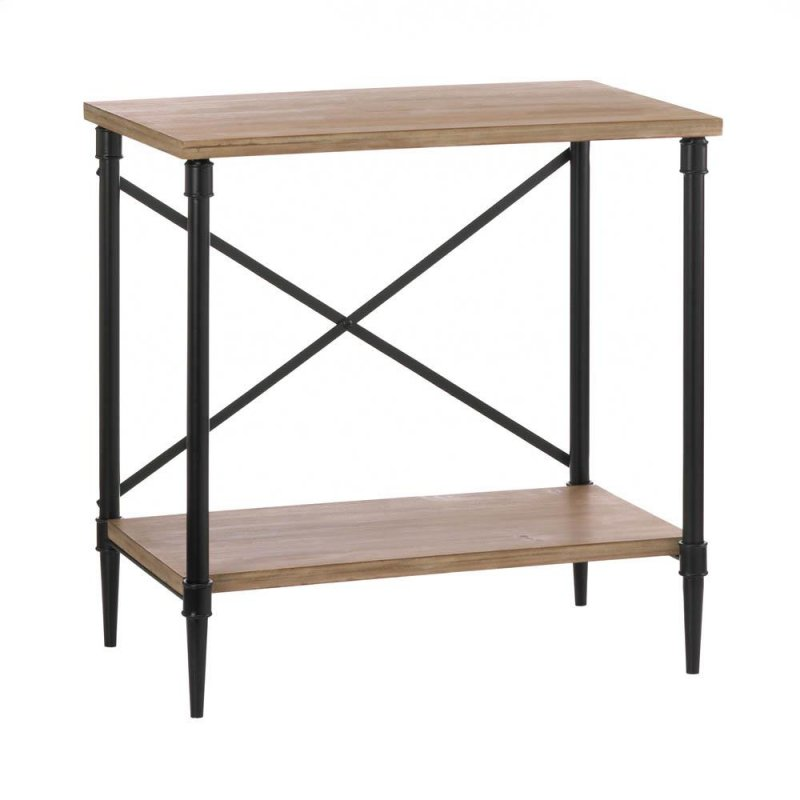 Image 0 of Industrial Style Console Table w/ Bottom Shelf for Hall, Entryway, Living Room