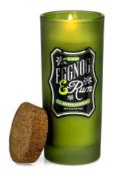 Eggnog & Rum Highball Scented Candles in Green Glass Jar 33 Hour Burn Time