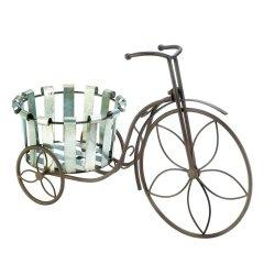 '.Bucket Bike Plant Stand.'
