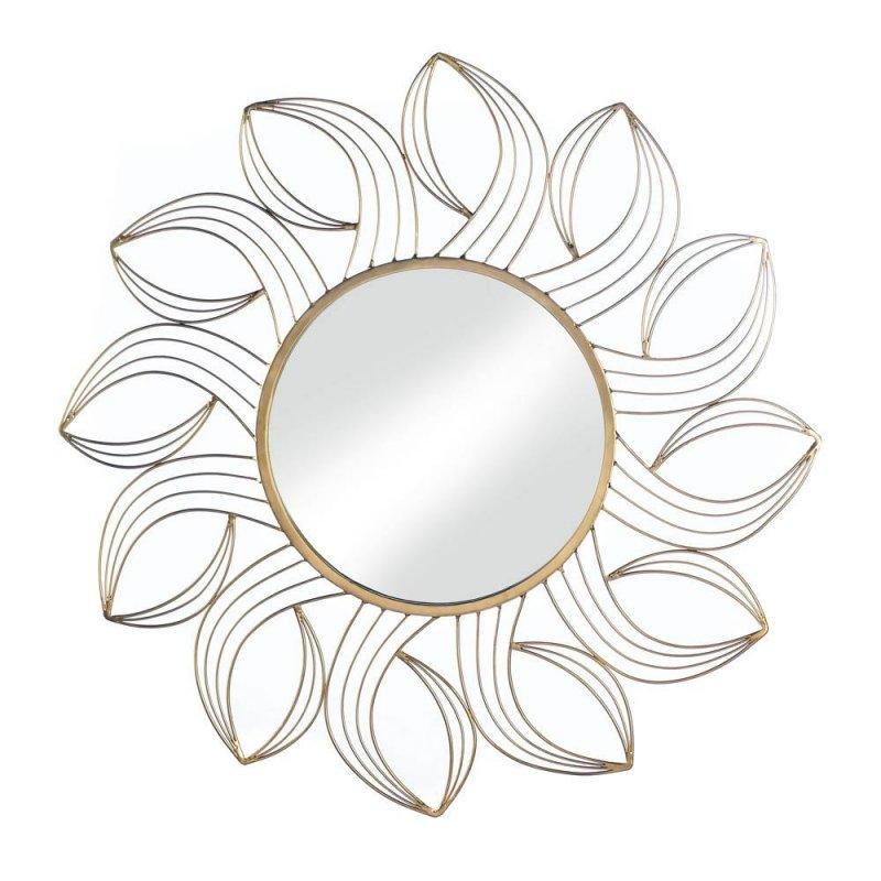 Golden Petals Wall Mirror Iron 11