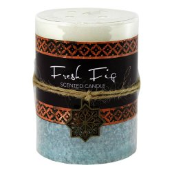 Fresh Fig Scented Moroccan Inspired Pillar 3x4 Candle  60 Hours Burn Time