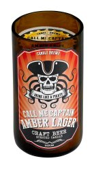 Amber Lager Beer Scented Candles in Brown Glass Jar 50 Hour Burn Time