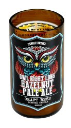 Owl Night Long Hazelnut Pale Ale Beer Scented Candles in Brown Glass Jar