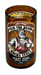 Fear the Beard Mocha Stout Beer Scented Candles in Brown Glass Jar