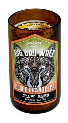 Big Bad Wolf Blood Orange IPA Beer Scented Candles in Brown Glass Jar