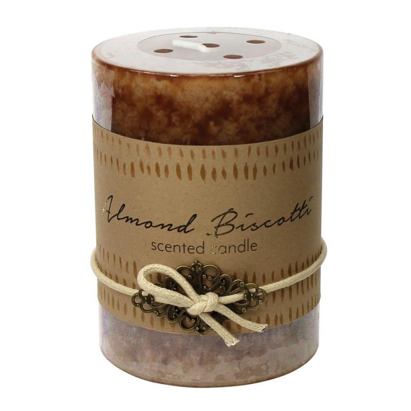 Image 0 of Almond Biscotti Scented 3x4 Pillar Candle  60 Hour Burn Time