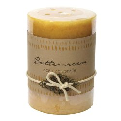 Buttercream Scented 3x4 Pillar Candle  60 Hour Burn Time