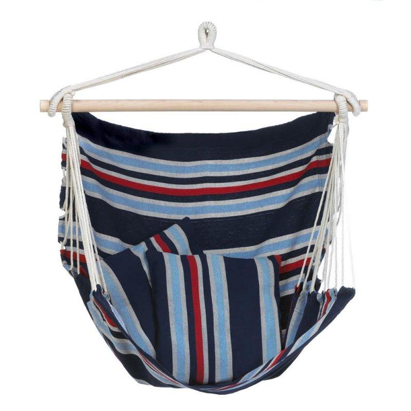 Image 0 of Nautical Stripes Cotton Hammock Swing Chair