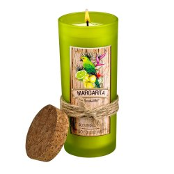 Margarita Highball Scented Jar Candles 33 Hours Burn Time Cork Lid
