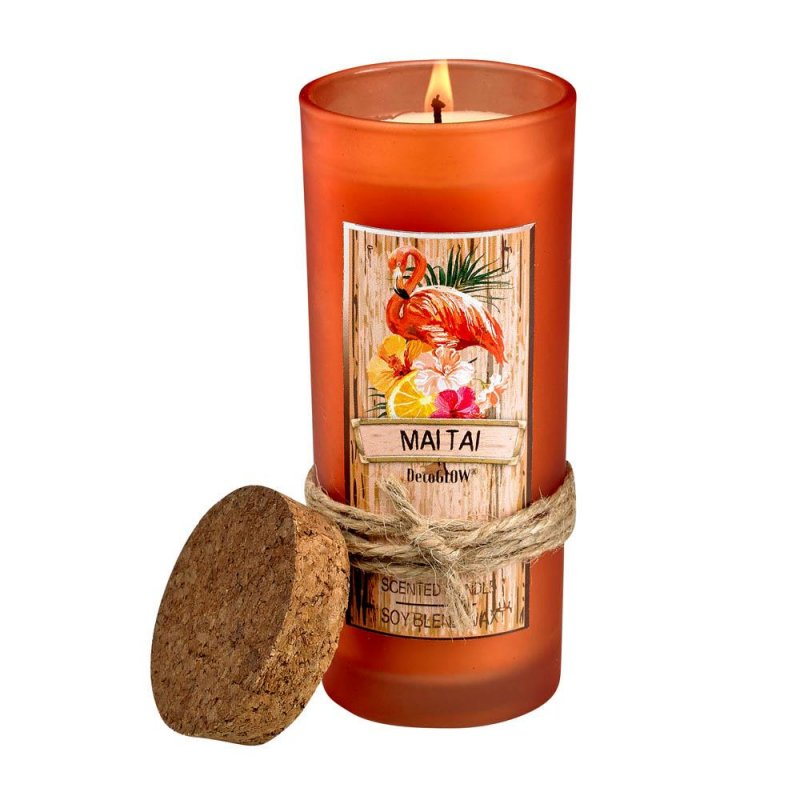 Image 0 of Mai Tai Highball Scented Jar Candles 33 Hours Burn Time Cork Lid