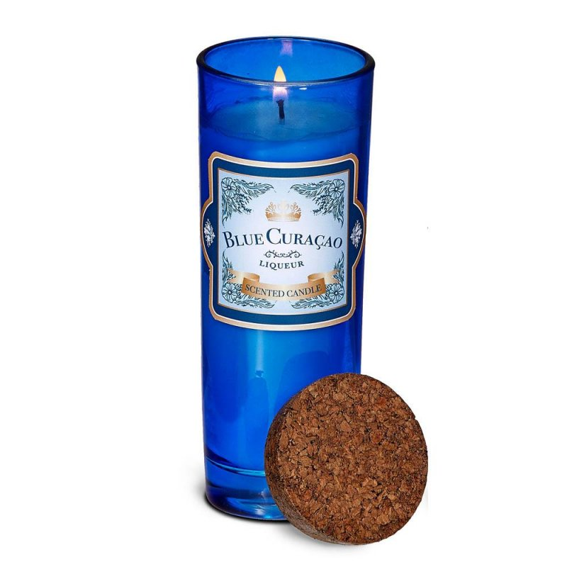 Image 0 of Blue Curacao Highball Scented Jar Candles 33 Hours Burn Time Cork Lid