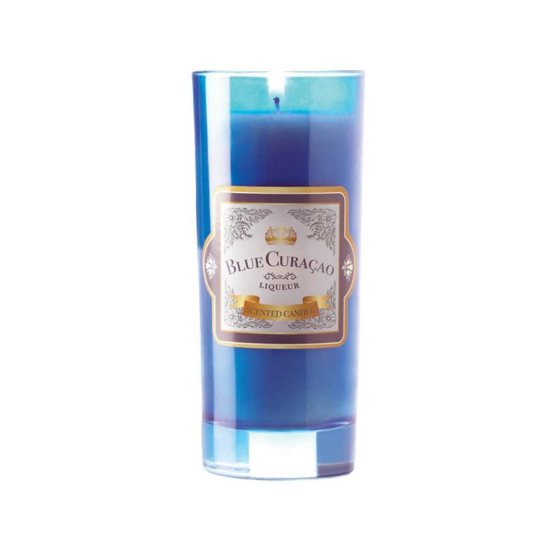 Image 1 of Blue Curacao Highball Scented Jar Candles 33 Hours Burn Time Cork Lid