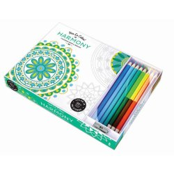 Meditative Designs Harmony Adult Coloring Book with Pencils 96 Pages