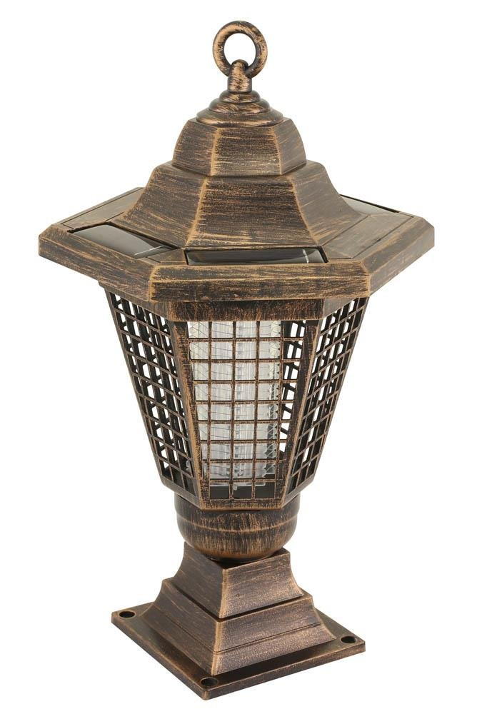 Image 1 of 2 in 1 Solar Light Bug Zapper Tabletop Lantern or Pathway Garden Stake
