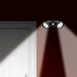 Motion Activated Duel Security Super Bright LED Light 10 foot Range