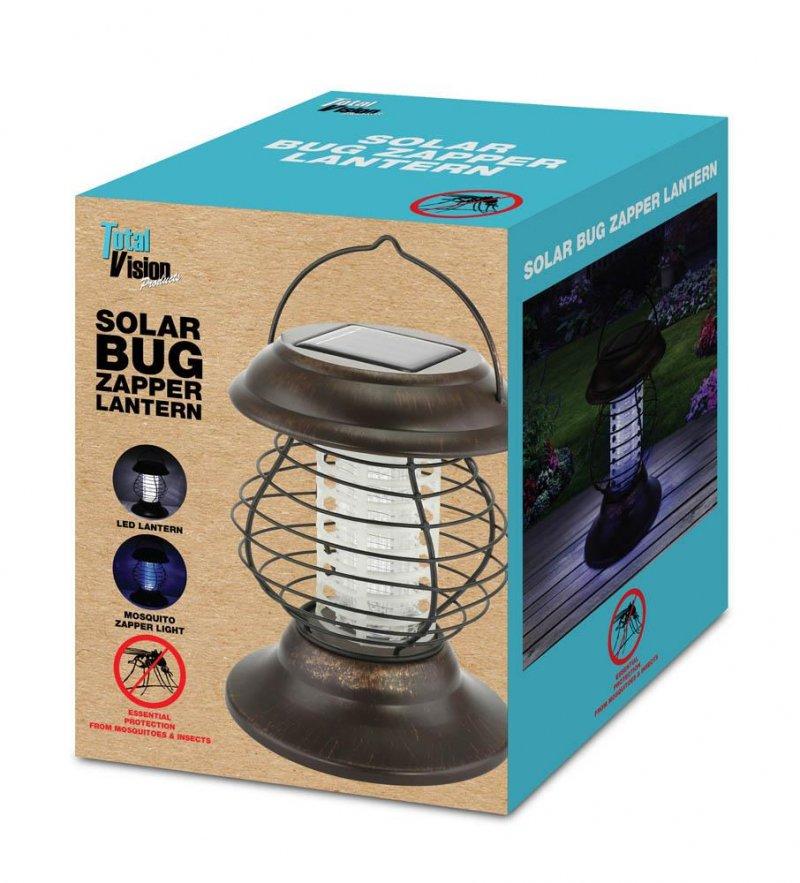 Image 0 of Solar Bug Zapper & Led Pathway Lantern 2 Light Modes 6 Hours Light Time