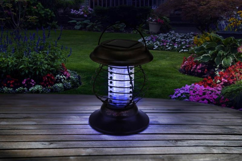 Image 2 of Solar Bug Zapper & Led Pathway Lantern 2 Light Modes 6 Hours Light Time