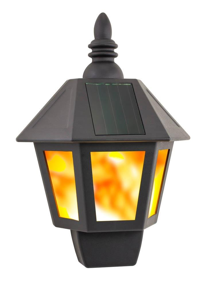 Image 1 of Solar Fire Wall Mounted Outdoor Lantern Weather Resistant Hardware Not Included