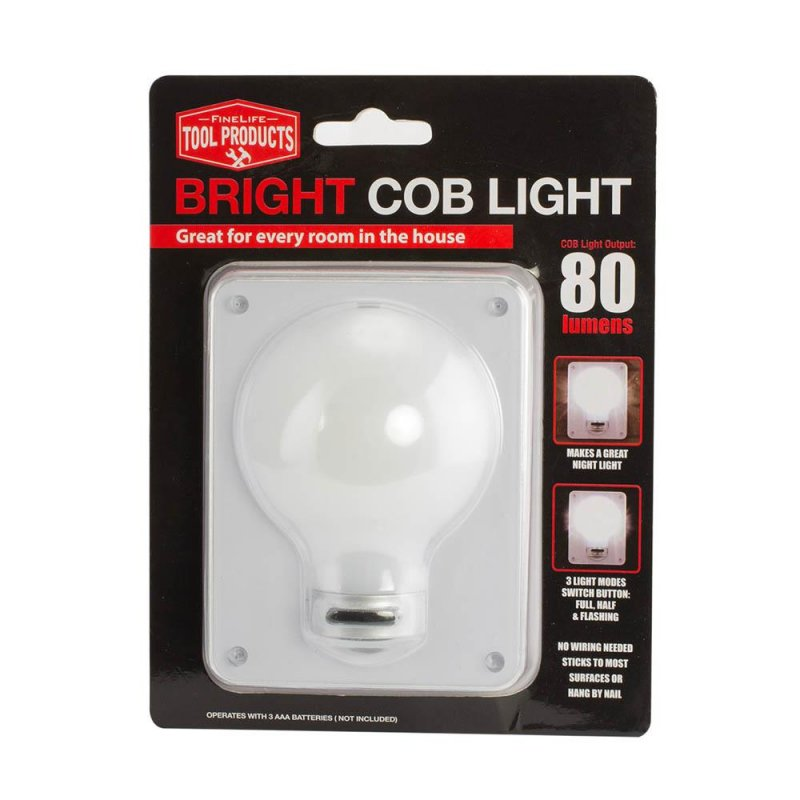 Image 0 of Cordless Cob Light Switch Wall Light 3 Modes Full, Light & Flashing 80 Lumens