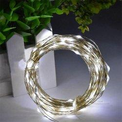 100 LED Copper String Cool White USB Fairy Lights 32 Feet Long