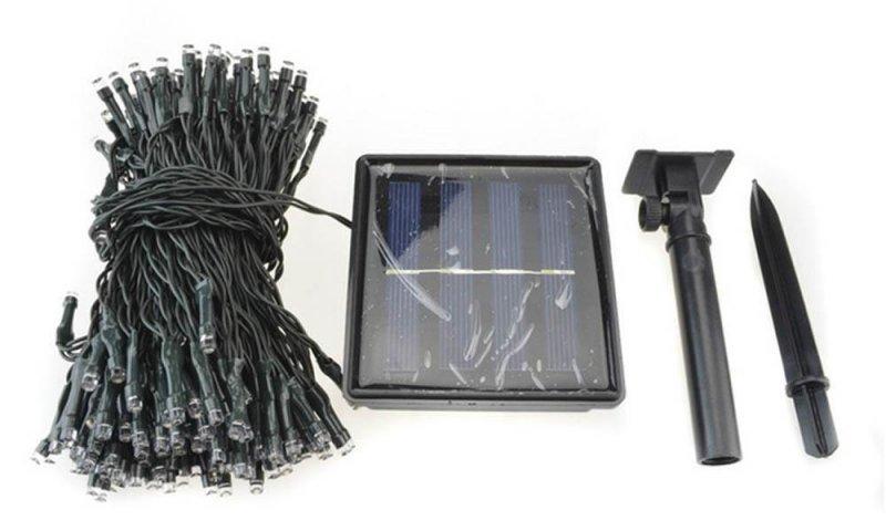 Image 1 of 100 White LED Solar String Light Waterproof 32 Feet