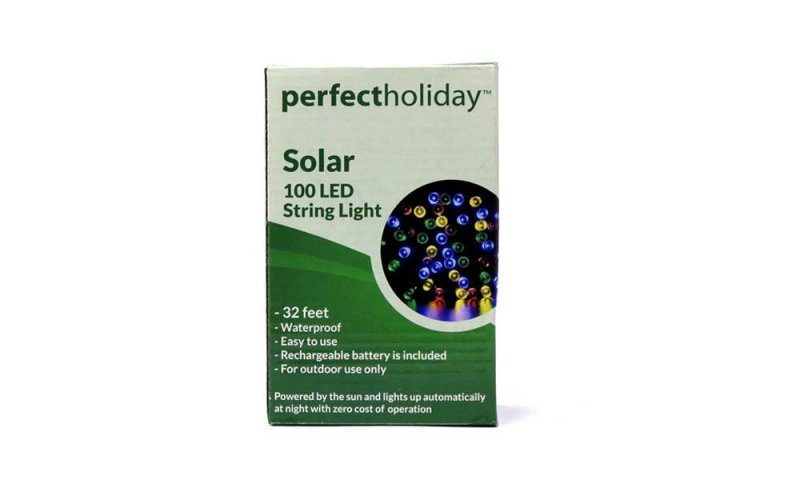 Image 1 of 100 Multi-Color LED Solar String Light Waterproof 32 Feet