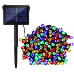 100 Multi-Color LED Solar String Light Waterproof 32 Feet
