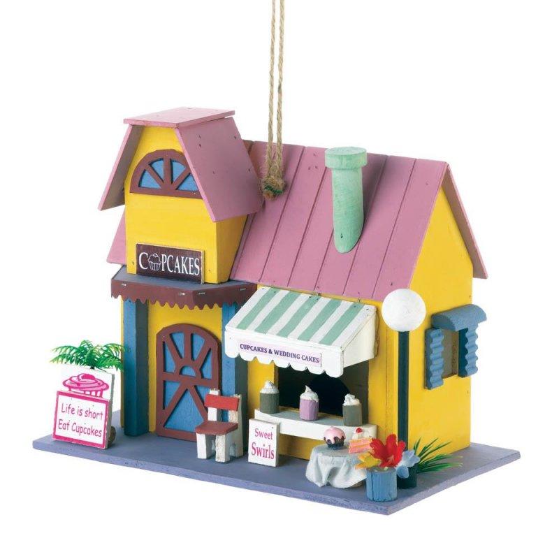 Image 0 of Cupcake Bakery Shop Decorative Birdhouse 1 1/4