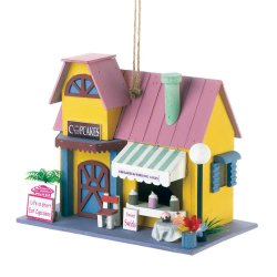 Cupcake Bakery Shop Decorative Birdhouse 1 1/4 Hole