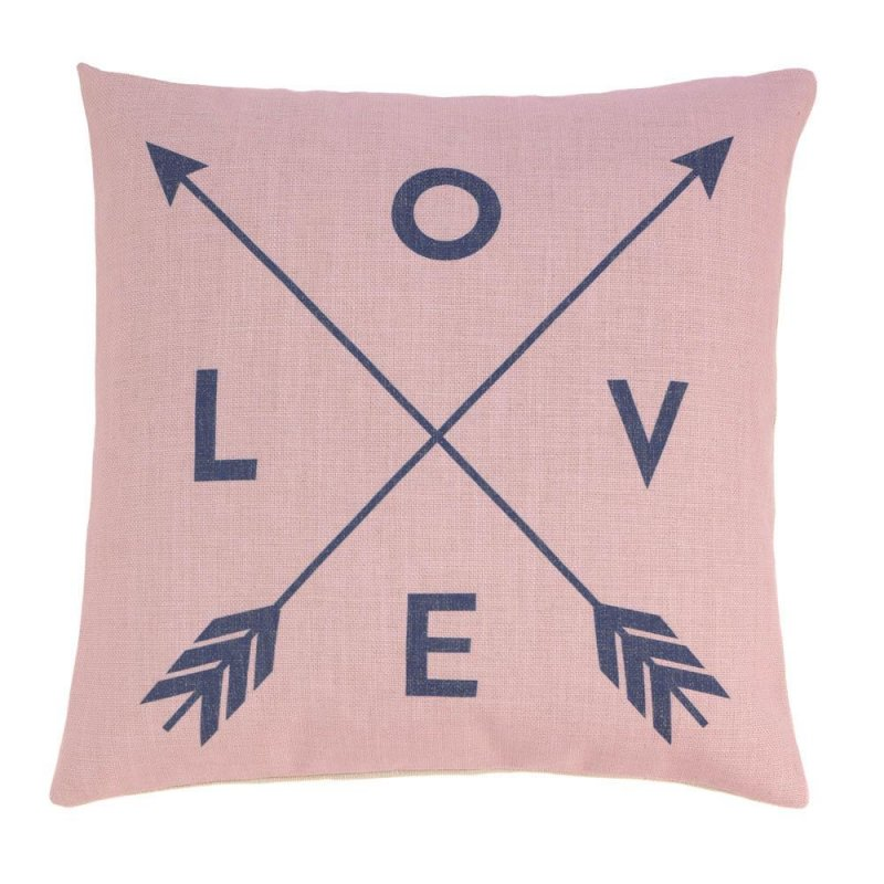 Image 0 of Romantic Love Pillow w/ Crossed Arrows Decorative Accent Pillow  17